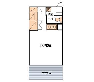 101~105号室(一人部屋)