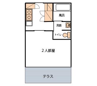 106号室(二人部屋)