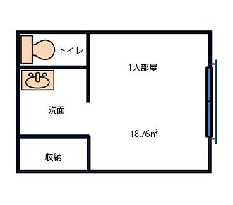 108~113号室(一人部屋)
